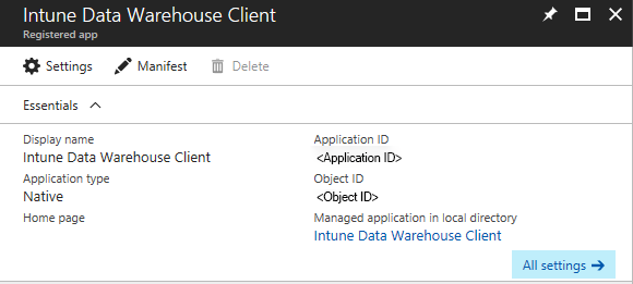 get data from the data warehouse api with a rest client microsoft docs