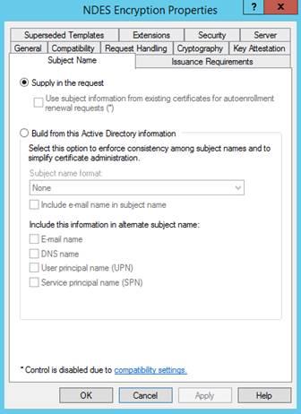 Configure and manage scep certificates with intune microsoft docs template subject name tab yelopaper Choice Image