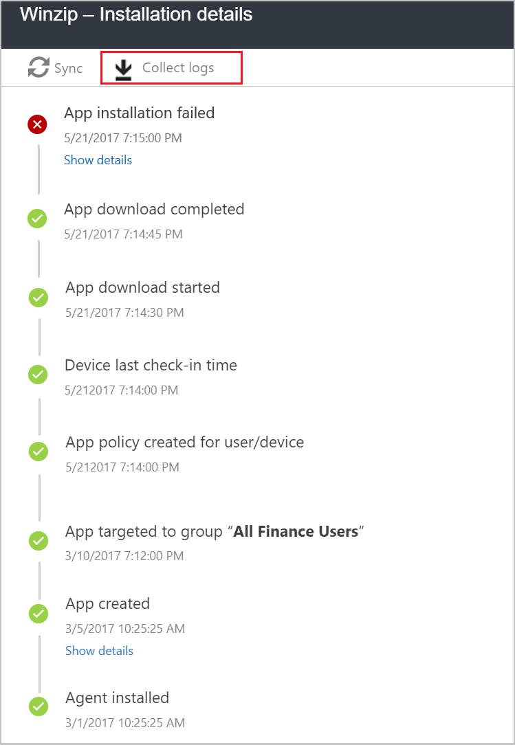 Troubleshoot app installation issues - Microsoft Intune | Microsoft Docs