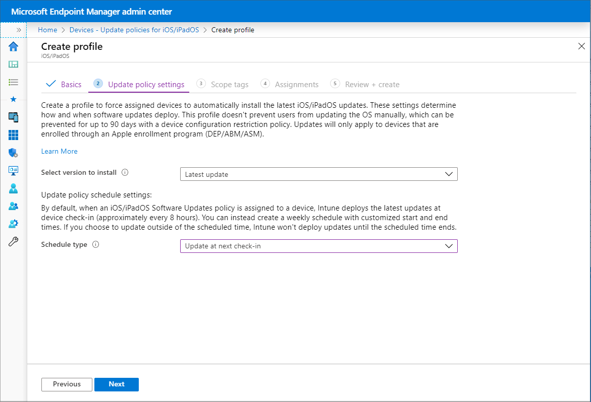 Configure iOS software update policies in Microsoft Intune