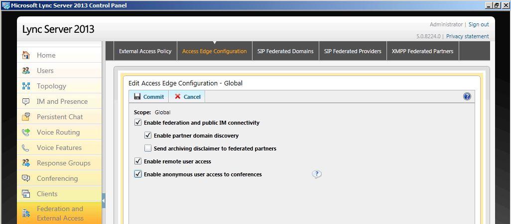 Lync Server 2013: Enabling Lync-Skype connectivity