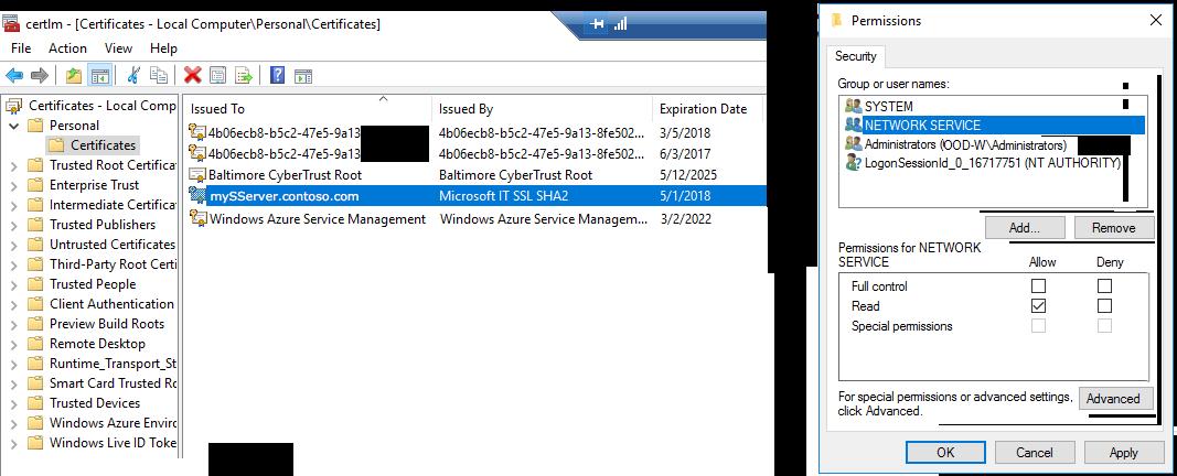 Https Ssl Tls 12 For Machine Learning Server Microsoft Docs