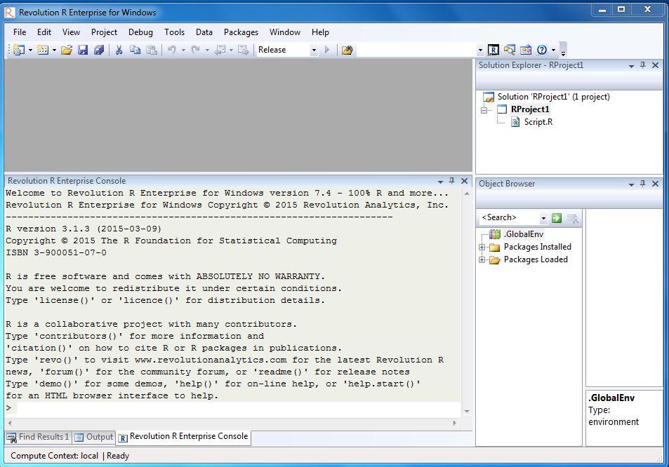 R Productivity Environment User's Guide   Microsoft Docs