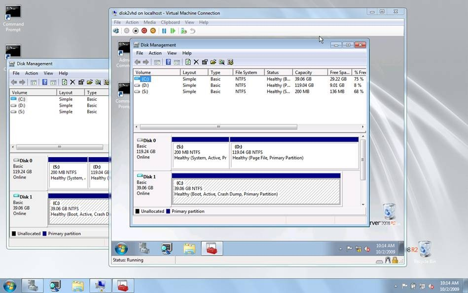 Disk2vhd screenshot