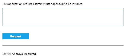 Software Center app install request for approval