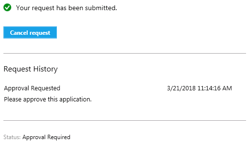 Software Center app install requested