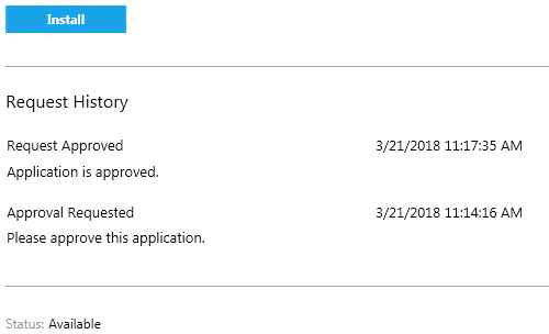 Software Center app install approved
