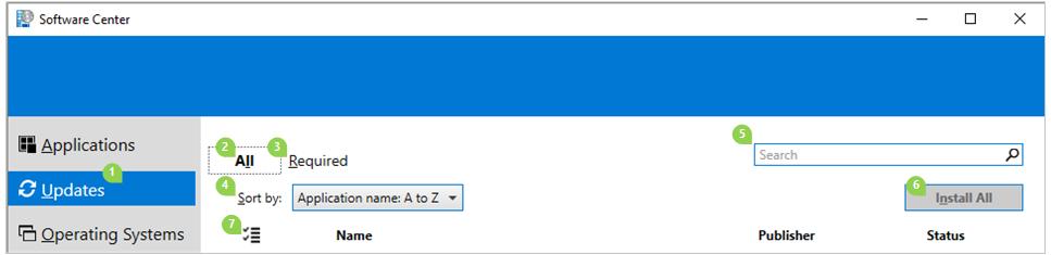 Software Center Updates tab