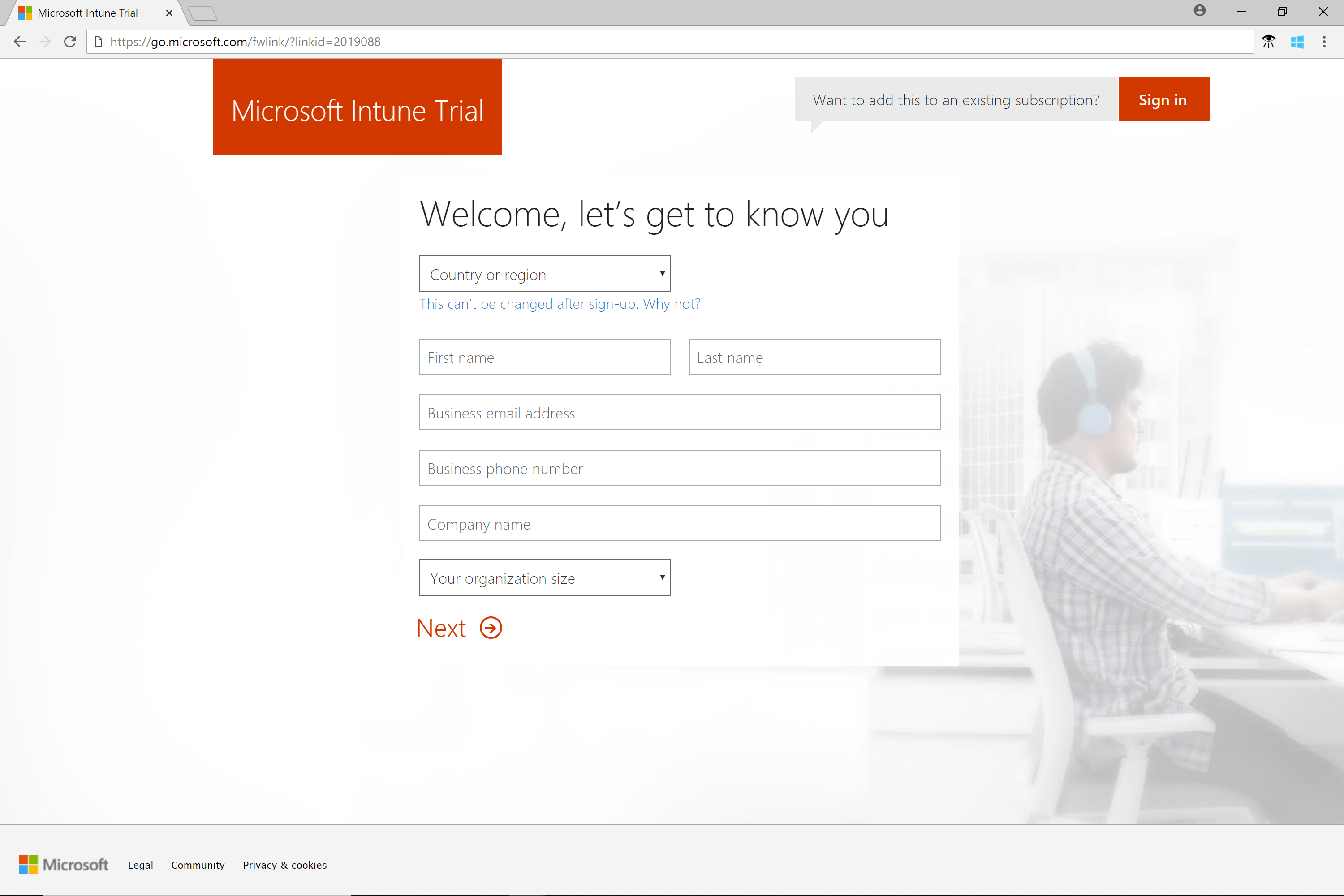 Quickstart Try Microsoft Intune For Free Microsoft Docs