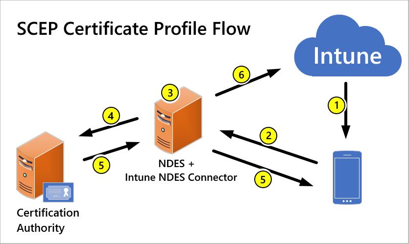 SCEP certificate profile flow