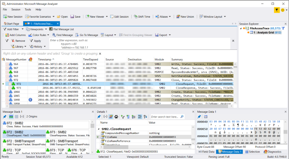 Message Analyzer Tutorial - Message Analyzer | Microsoft Docs