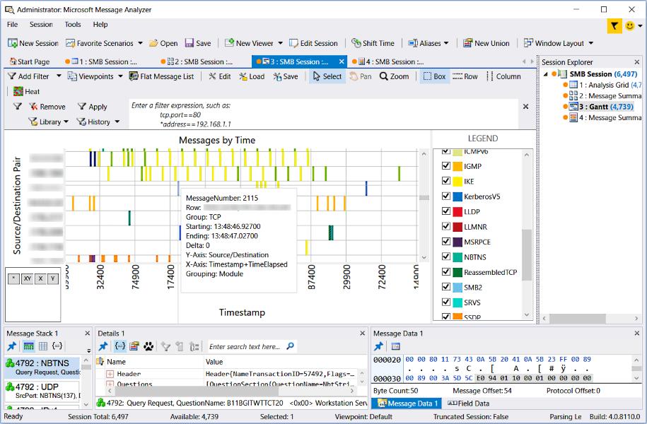 Gantt Viewer Message Analyzer Microsoft Docs