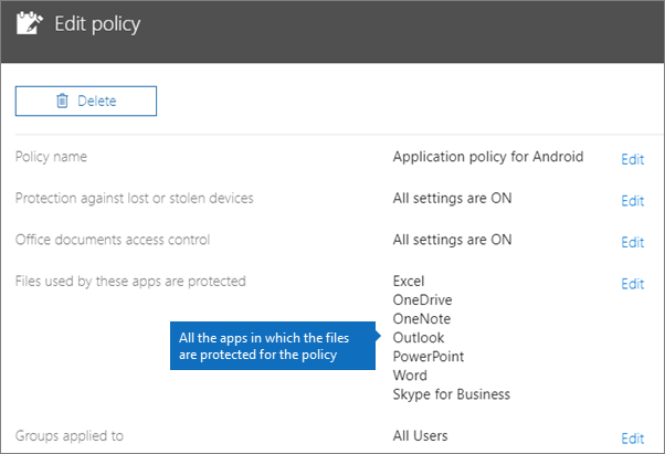 Validate app protection settings on Android or iOS devices