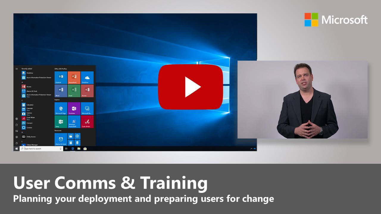 Step 8 - User Communications and Training | Microsoft Docs