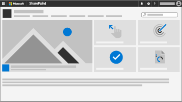 a SharePoint communication site