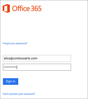Sign in to your organizational account in Outlook
