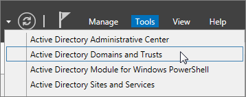 Choose Active Directory Domains and Trusts.