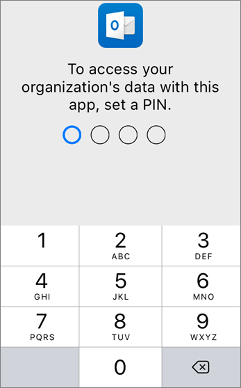 Set a PIN to access your organization's data