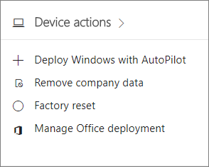 Screenshot of the Devices card in the admin center