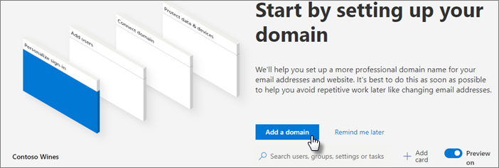 Select Add a domain.