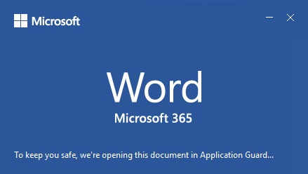 Office app splash screen