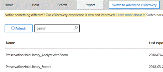 Export tab, multiple searches