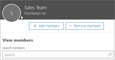 Add members to distribution group