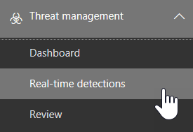 Real-time detections