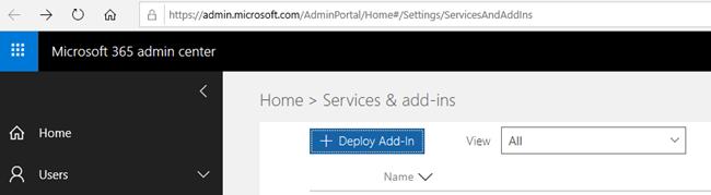 Choose Deploy Add-In