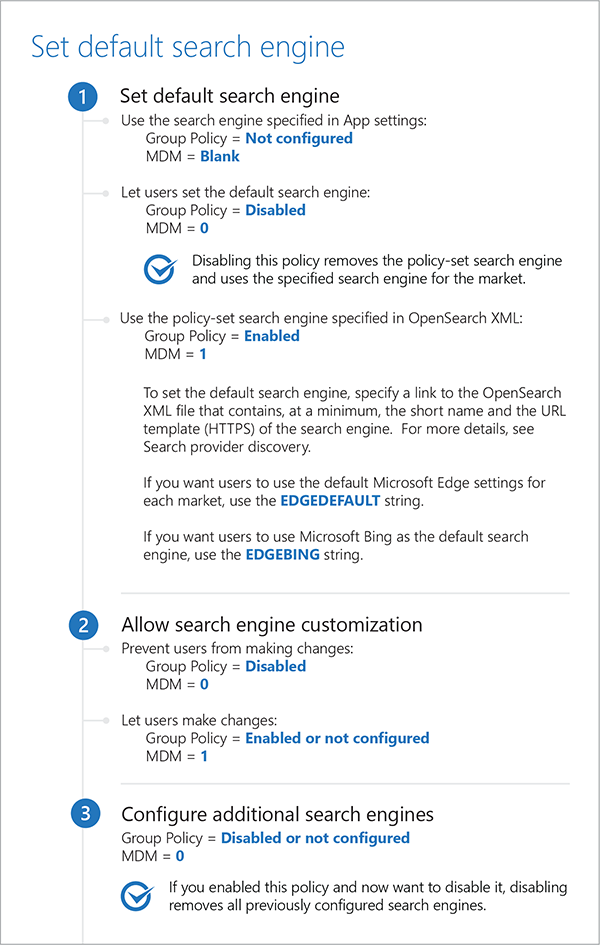 how to change edge search engine