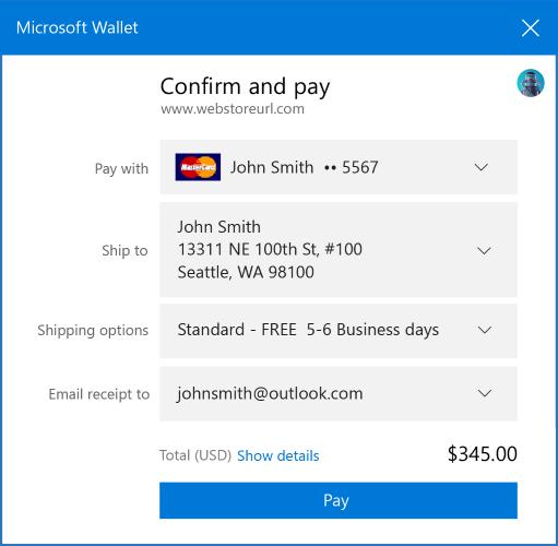 Dev guide - Payment Request API - Microsoft Edge Development