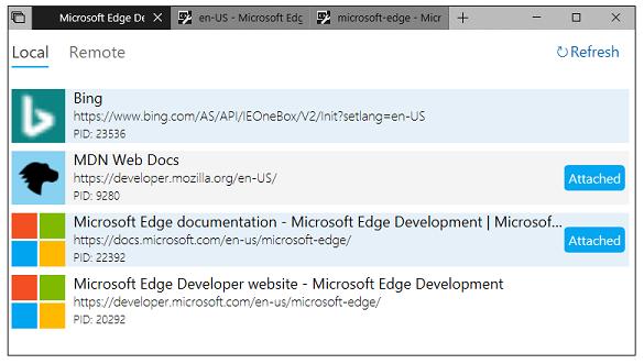 Microsoft Edge (EdgeHTML) Developer Tools - Microsoft Edge