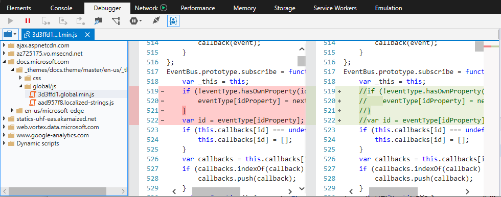 DevTools - Debugger - Microsoft Edge Development | Microsoft