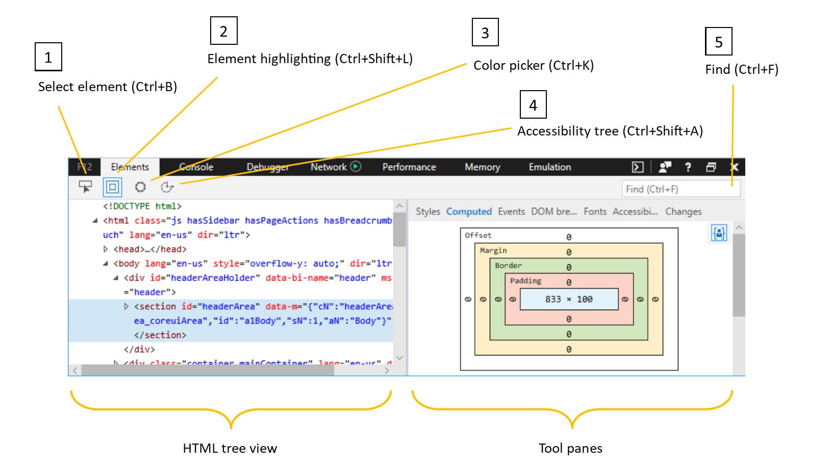 Microsoft edge devtools elements microsoft edge development html tree view the microsoft edge devtools elements panel ccuart Images