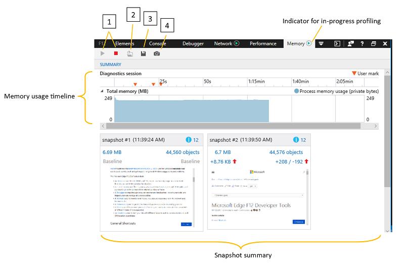 DevTools - Memory - Microsoft Edge Development | Microsoft Docs