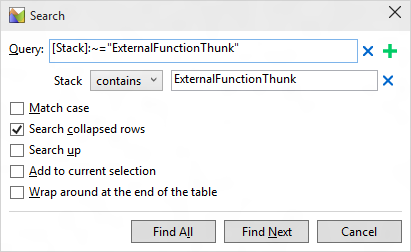 Search For ExternalFunctionThunk
