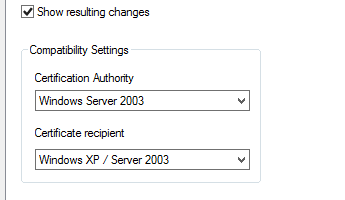 Deploying microsoft identity manager certificate manager show resulting changes yelopaper Images