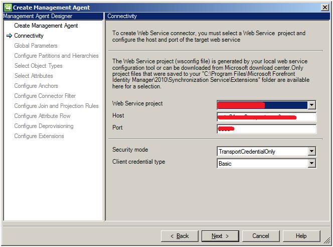 Web Service Connector configuration options | Microsoft Docs