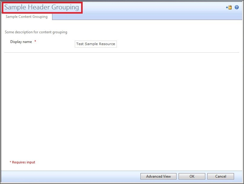 Resource control display configuration XML reference