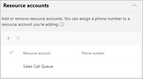Screenshot of resource account and language settings