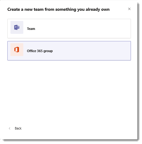 Enhance Existing Office 365 Groups With Microsoft Teams Microsoft Docs