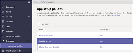 Manage the Shifts app for your organization in Microsoft