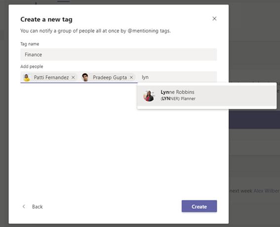 Microsoft Teams governance: tagging