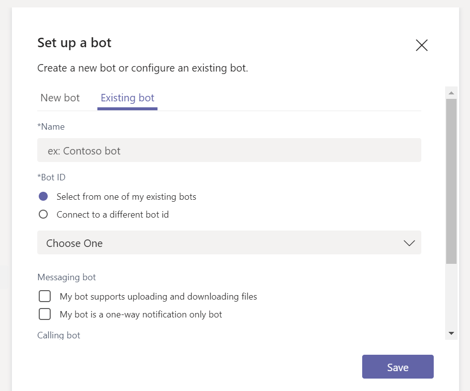 Add bots for private chats and channels in Microsoft Teams