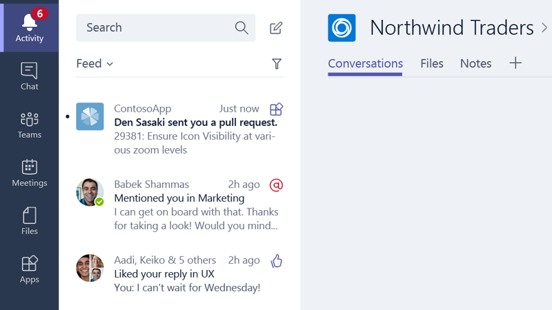 Image result for activity feed integration microsoft teams
