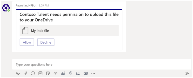 Sending and receiving files from a bot - Teams   Microsoft Docs