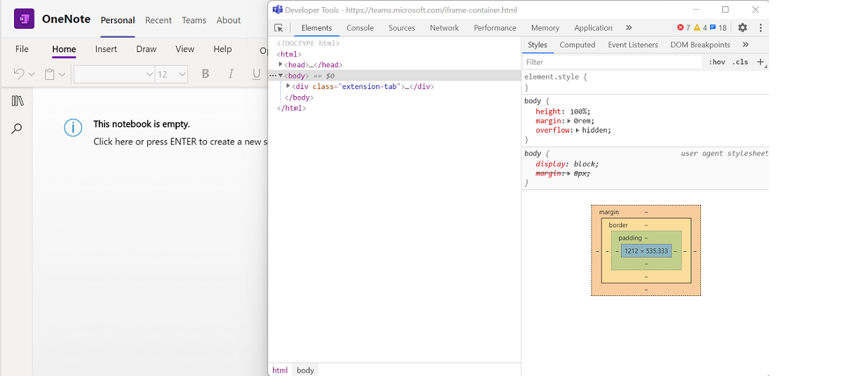 DevTools for Microsoft Teams tabs - Teams | Microsoft Docs