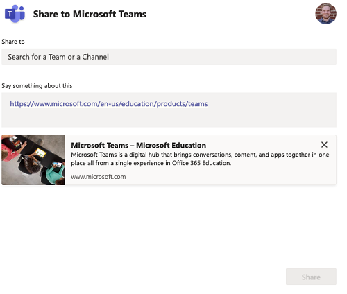 Image result for share to teams button
