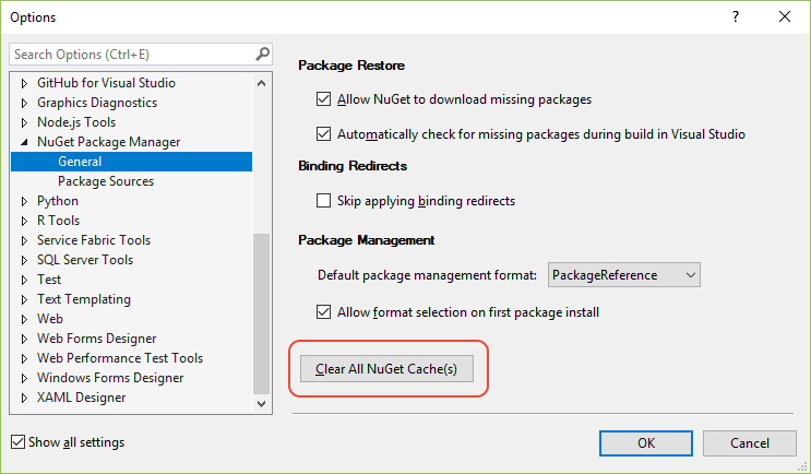 How to manage the global packages, cache, temp folders in