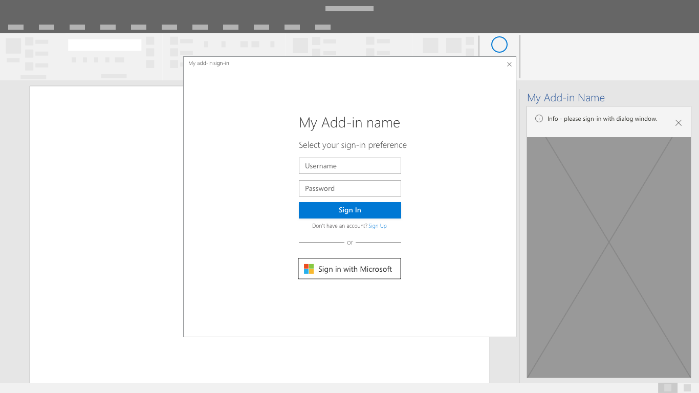 Authentication design guidelines for Office Add-ins - Office